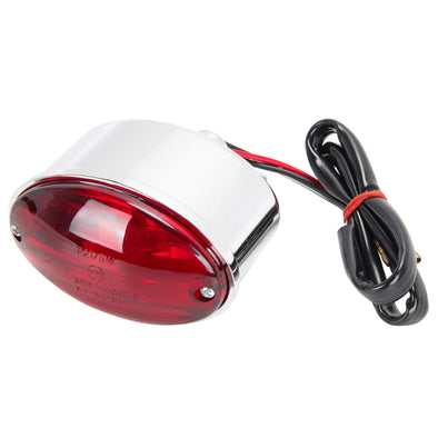 Mini Cat Eye Tail Light - Chrome