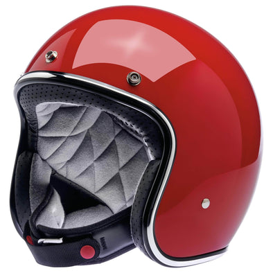 Bonanza Helmet DOT Approved Helmet - Gloss Blood Red