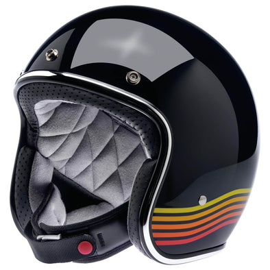 Bonanza Helmet DOT Approved Helmet - Gloss Black Spectrum