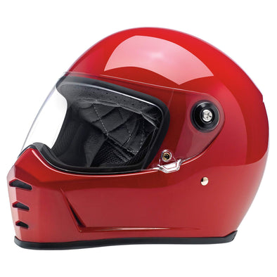 Lane Splitter DOT/ECE Approved Full Face Helmet - Gloss Blood Red