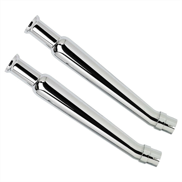 Cocktail Shaker Mufflers - Upswept - Right Side Pair - for 1-1/2 to 1-3/4 inch Exhaust Pipes