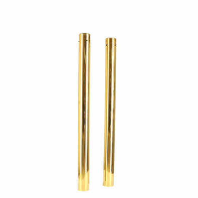39MM Gold Fork Tubes - 24.25 inch - Stock Length