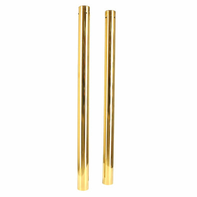 39MM Gold Fork Tubes - 28.25 inch - 4 Over