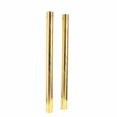 49MM Gold Fork Tubes - 27.50 inch - 2 Over