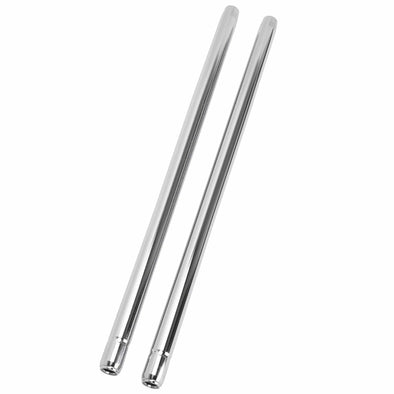 35MM Chrome Fork Tubes - 31-1/4 inch - 8 Over