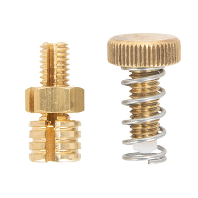 Brass Stop Screw and Cable Stop / Register for KustomTech Throttles