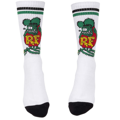 Rat Fink Standing Socks - White