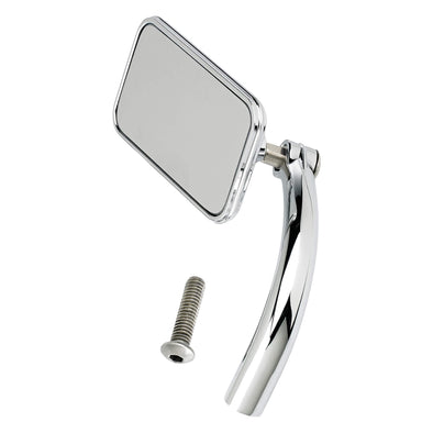 Utility Mirror Rectangle Perch Mount - Chrome