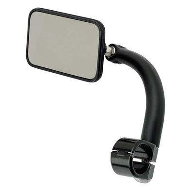Utility Mirror Rectangle Clamp-on Mount - 7/8 inch Handlebars - Black