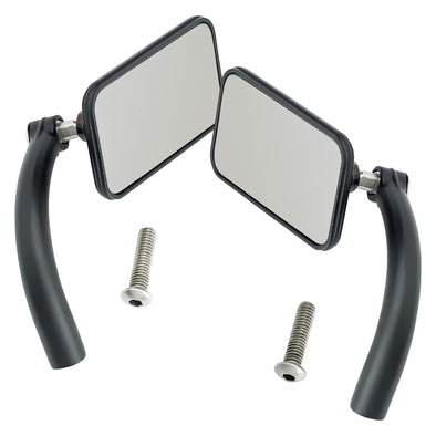 Utility Mirror Rectangle Perch Mount - Black - Pair