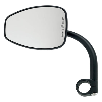 Utility Mirror Teardrop CE Clamp-on Mount - 1 inch Handlebars - Black