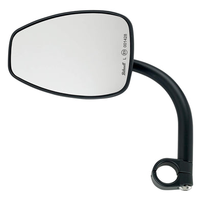 Utility Mirror Teardrop CE Clamp-on Mount - 7/8 inch Handlebars - Black