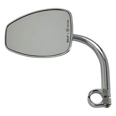 Utility Mirror Teardrop CE Clamp-on Mount - 7/8 inch Handlebars - Chrome