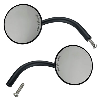 Utility Mirror Round CE Perch Mount - Black - Pair