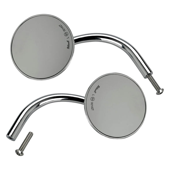 Utility Mirror Round CE Perch Mount - Chrome - Pair