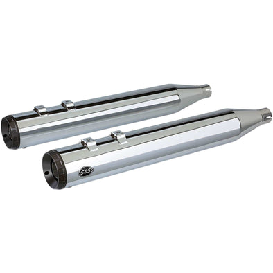 Grand National Slip-On Mufflers - Chrome - 4 inch - 1995-2016 Harley-Davidson Touring Models
