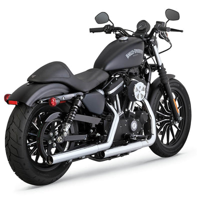 Straightshots HS Slip-On Mufflers - Chrome - 2014-Up Harley-Davidson Sportster XL