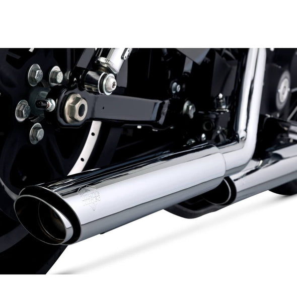 Twin Slash Slip-On Mufflers - Chrome - 3 inch - 2014-Up Harley-Davidson Sportster XL