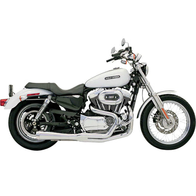 Road Rage Short 2 into 1 Exhaust System - Chrome - 1986-2003 Harley-Davidson Sportster XL