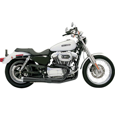 Road Rage Short 2 into 1 Exhaust System - Black - 1986-2003 Harley-Davidson Sportster XL