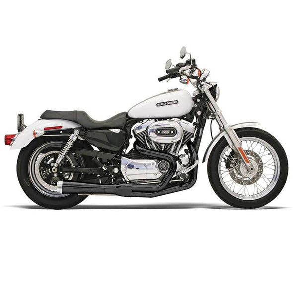 Road Rage 2 into 1 Exhaust System - Black - 2004-2013 Harley-Davidson Sportster XL