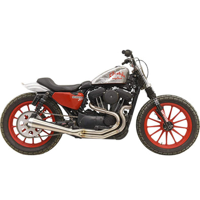 Road Rage 3 High Output 2 into 1 Exhaust System - Stainless - 2004-Up Harley-Davidson Sportster XL