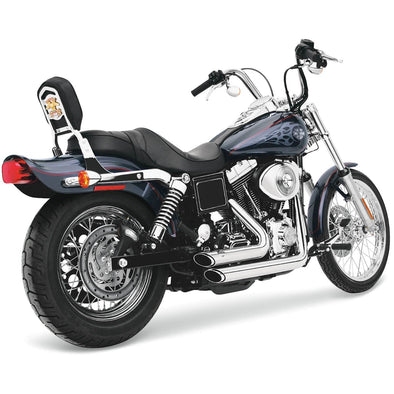 Shortshots Staggered Exhaust System - Chrome - 1991-2005  Harley-Davidson Dynas