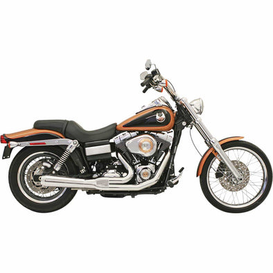 Road Rage Short 2 into 1 Exhaust System - Chrome - 2006-2017 Harley-Davidson Dynas