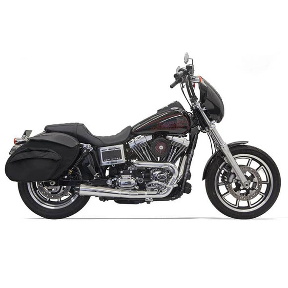 Road Rage Short 2 into 1 Exhaust System - Chrome - 1991-2005 Harley-Davidson Dynas