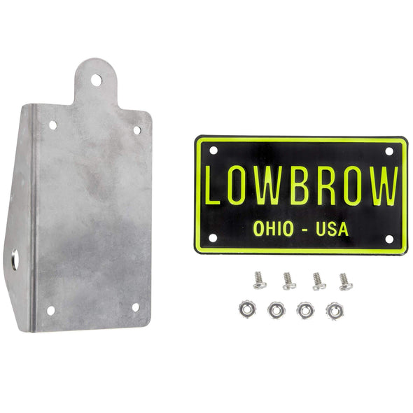 Bicycle / Mini Bike Axle Mount Vertical License Plate Bracket