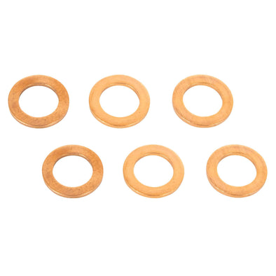 7/16 inch Copper Crush Washers - 6 Pack