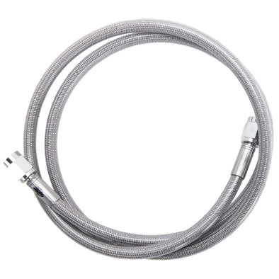 "Universal Braided Stainless Brake Line - 24"" - Clear Coated"