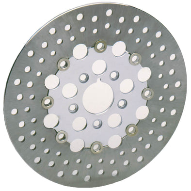 Floating Drilled Stainless Steel Brake Rotor - 11.5 inch - Replaces Harley-Davidson OEM# 4136-84A