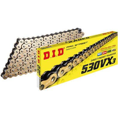 530 VX3 X-Ring Chain - 120 Links  - Gold
