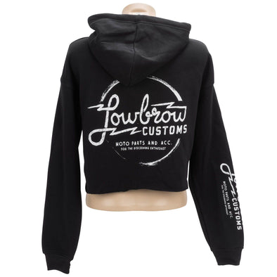 Parts and Accessories Womens Cropped Hooded Sweatshirt