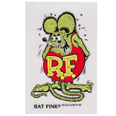 Rat Fink Standing Sticker - Green