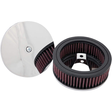Round/Open Air Filter Assembly 1976-89 Harley-Davidson with Keihn Carburetor