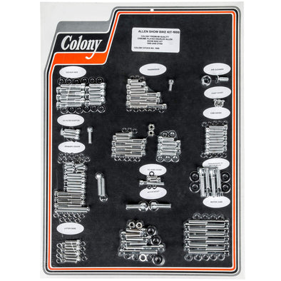Colony Machine #1014-P Complete Show Bike Kit Chrome Smooth Allen Hardware Harle