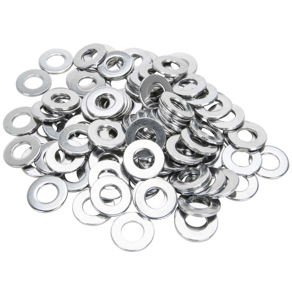 #10MM-F-100 10mm Chrome Plated Flat Washers Bag of 100