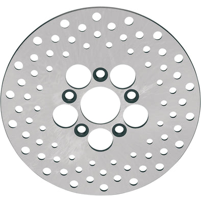 Drilled Stainless Steel Brake Rotor - 10 inches - Replaces Harley-Davidson OEM# 41807-73, 41813-79