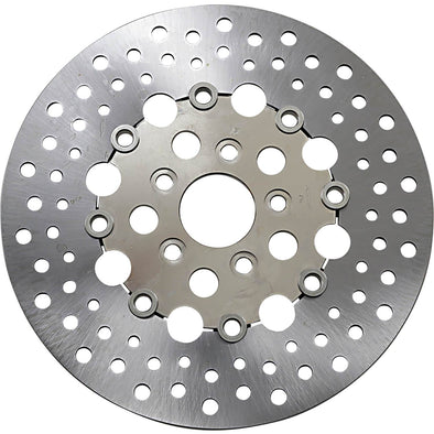 Floating Drilled Stainless Steel Brake Rotor - 11.5 inch - Replaces Harley-Davidson OEM# 44136-92, 41789-92