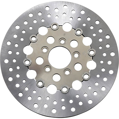 Floating Drilled Stainless Steel Brake Rotor - 11.5 inch - Replaces Harley-Davidson OEM# 41797-00