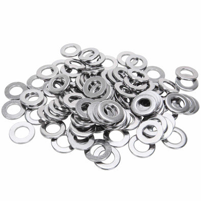 #12MM-F-100 12mm Chrome Plated Flat Washers Bag of 100