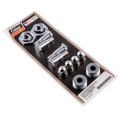 #2214-16 Chrome Springer Fork Rocker Pivot Stud and Nut Kit Harley FXSTS 88-up