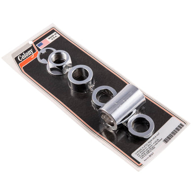 #2512-7 Chrome Rear Axle Nut Spacer Kit Harley Softail 08-up