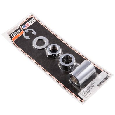 #2516-5 Chrome Rear Axle Nut Washer Spacers Harley Dyna 08-up