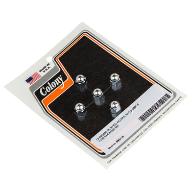 #6931-5 Chrome Plated Acorn Nut 10-32 SAE thread 5 pack