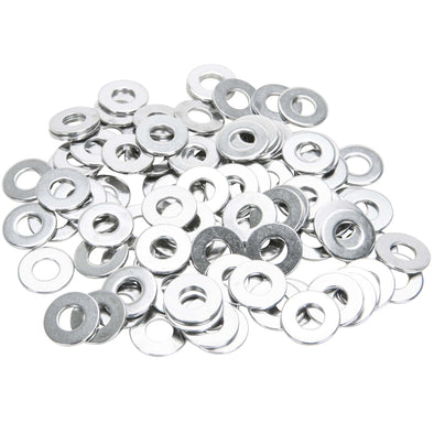 #6MM-F-100 6mm Chrome Plated Flat Washers Bag of 100