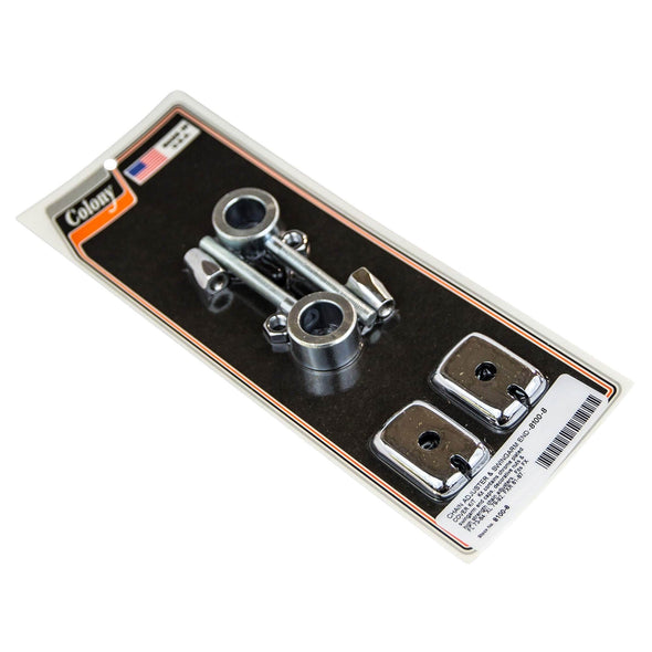 #8100-8 Chain Adjuster & Swingarm End Cover Kit Chrome Plated H-D FX FL 73-84 / XL 79-92 / FXR 81-87