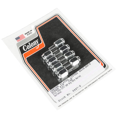 #8447-8 Lifter Base Chrome Cap Screw Kit Harley Big Twin 1936-75 Panhead Shovelhead